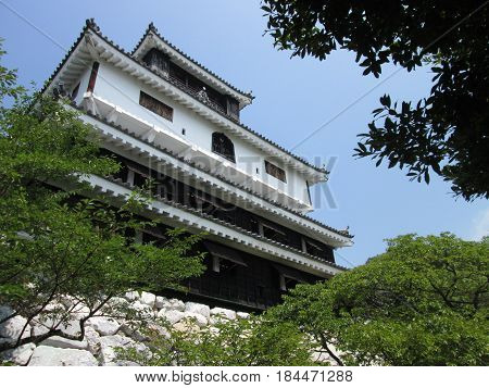 Iwakuni Castle, the most famous Japanese Castle in Yamaguchi Prefecture.