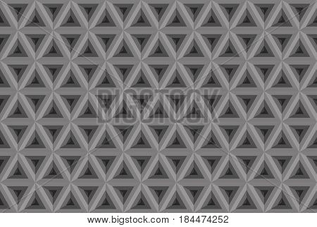 Triangl Seamless Pattern. Greyscale. Industrial Texture, Vector.