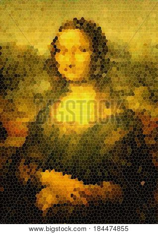 background minimal graphic texture, inspiration Mona Lisa