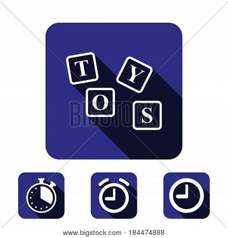 toys icon stock vector illustration flat design