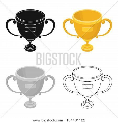 Gold cup of the winner.Fans single icon in cartoon  vector symbol stock illustration.