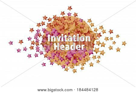 lending page header. color stars header. sparkling luxury stars. red stars