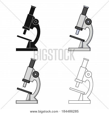 Microscope.Medicine single icon in cartoon style vector symbol stock illustration .