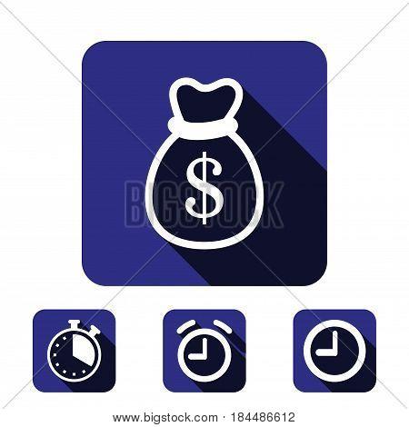 bag of money icon stock vector illustration flat design