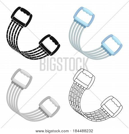 Simulator for hands on a spring mechanism.Gym And Workout single icon in cartoon style vector symbol stock web illustration.