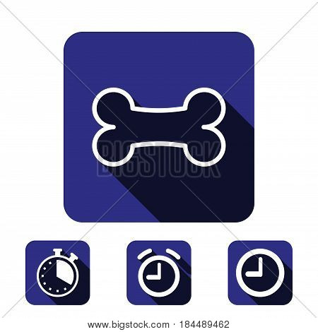 bone icon stock vector illustration flat design