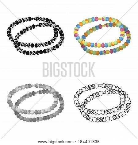 Colored beads.Hippy single icon in cartoon style vector symbol stock illustration .