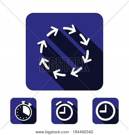 arrows icon stock vector illustration flat design