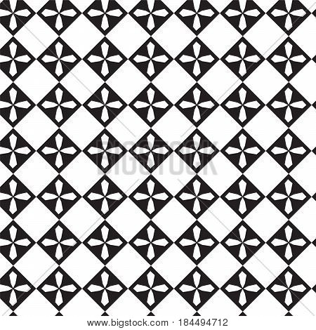 white polygon cross inside black diamond shape pattern background vector illustration image