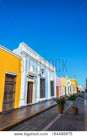 Colorful Street In Campeche, Mexico