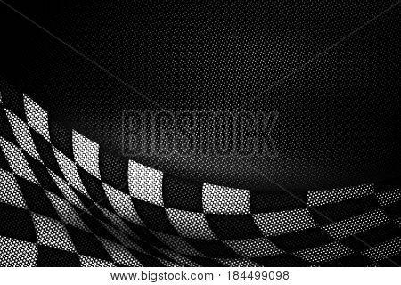 White And Black Carbon Fiber Background.