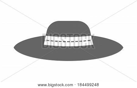 Sun hat, protective clothing. Flat icon and object of fashion accessory.