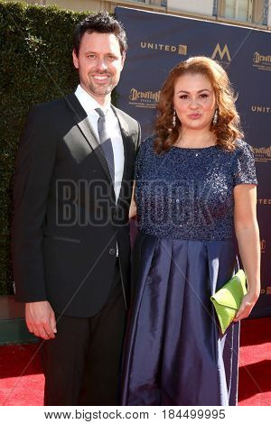 LOS ANGELES - APR 30:  Brian McDaniel, Angelica McDaniel at the 44th Daytime Emmy Awards - Arrivals at the Pasadena Civic Auditorium on April 30, 2017 in Pasadena, CA