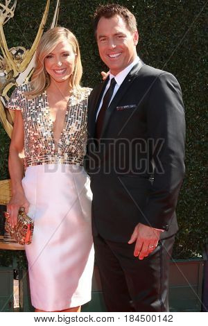 LOS ANGELES - APR 30:  Debbie Matenopoulos, Mark Steines at the 44th Daytime Emmy Awards - Arrivals at the Pasadena Civic Auditorium on April 30, 2017 in Pasadena, CA