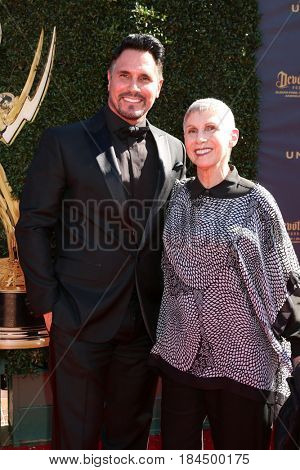 LOS ANGELES - APR 30:  Don DIamont, Elena Feinberg at the 44th Daytime Emmy Awards - Arrivals at the Pasadena Civic Auditorium on April 30, 2017 in Pasadena, CA