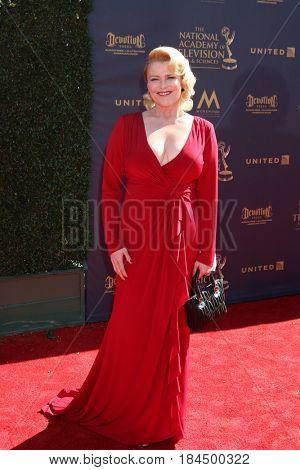 LOS ANGELES - APR 30:  Judi Evans at the 44th Daytime Emmy Awards - Arrivals at the Pasadena Civic Auditorium on April 30, 2017 in Pasadena, CA
