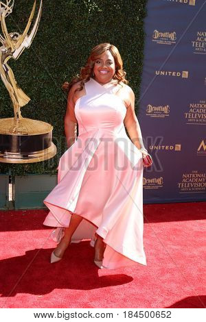 LOS ANGELES - APR 30:  Sherri Shepherd at the 44th Daytime Emmy Awards - Arrivals at the Pasadena Civic Auditorium on April 30, 2017 in Pasadena, CA