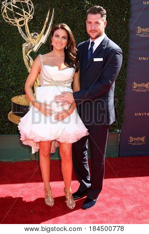 LOS ANGELES - APR 30:  Nadia Bjorlin, Grant Turnbull at the 44th Daytime Emmy Awards - Arrivals at the Pasadena Civic Auditorium on April 30, 2017 in Pasadena, CA