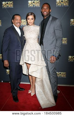 LOS ANGELES - APR 30:  Obba Babatunde, Reign Edwards, Lawrence Saint-Victor at the CBS Daytime Emmy After Party at the Pasadena Conferene Center on April 30, 2017 in Pasadena, CA