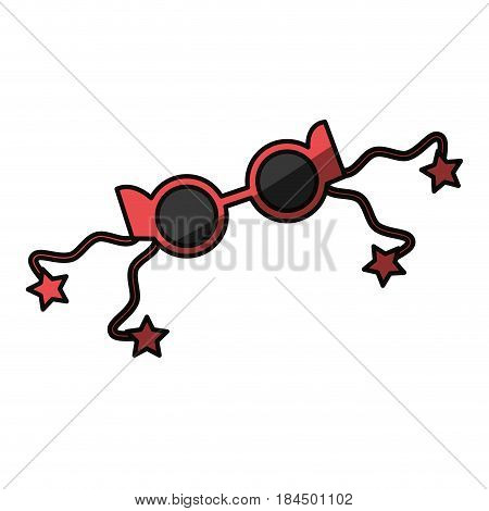Party glasses accesory decoration icon vector ilustration