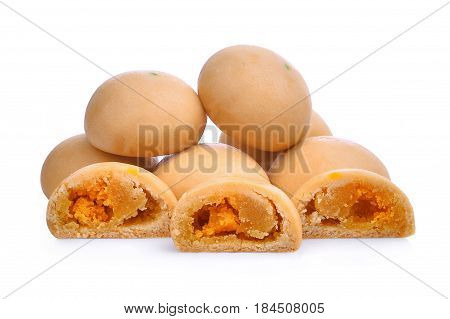 dessert mochi isolated on the white background
