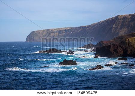 View of island Sao Miguel, the Azores