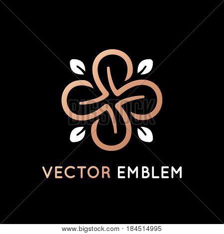 Vector Logo Design Template - Luxury Beauty Spa Concept