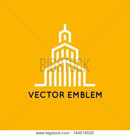 Vector Logo Design Template - Architecture And Building Sign