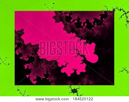 Pink And Green Fractal Background