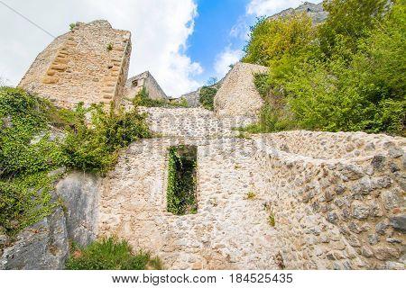 Old medieval Kalnik fortress ruins in Prigorje, Croatia