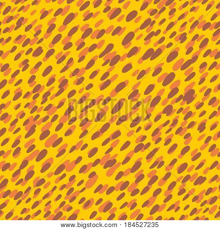 Skin of leopard seamless pattern. Vector endless background.