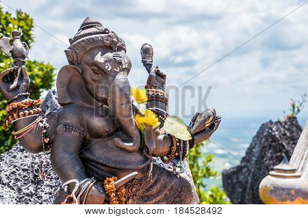 Statue of Ganesha on top of mountain