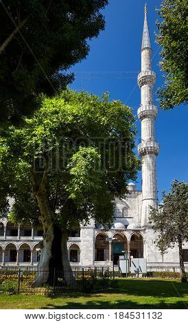 The Minaret Of Sultan Ahmed Mosque, Istanbul