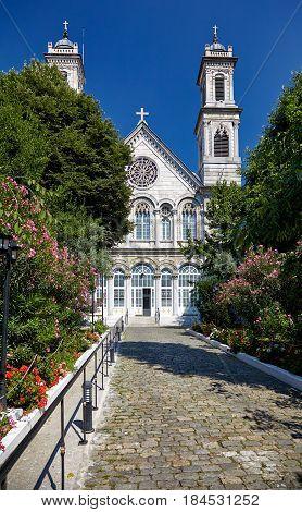 The Hagia Triada (holy Trinity) Orthodox Church In Istanbul