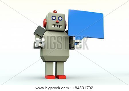 CHAT BOT message white background 3d illustration