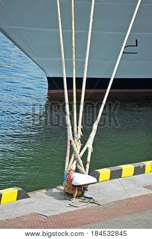 Cruise Travel Ship And Bollard
