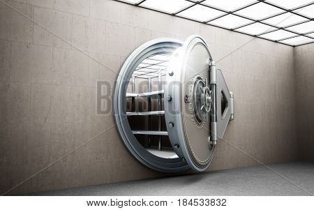 Big Safe Door With Empty Ingots High Resolution 3D Image