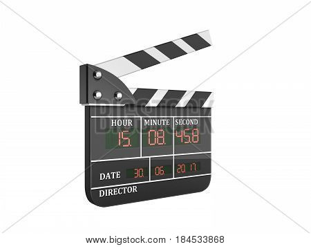 Movie Clapper Board High Quality 3D Render No Shadow