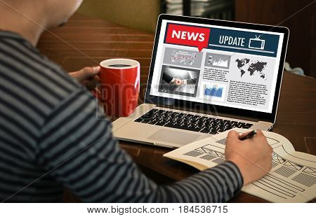 New Update Headline Media Live Broadcast Media Talking Communication