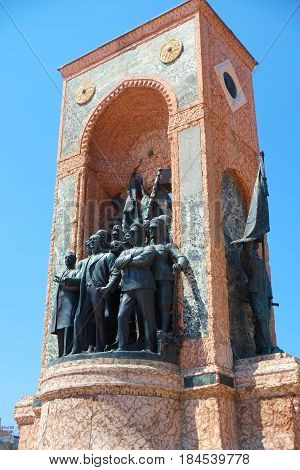 The Monument Of The Republic On Taksim Square, Istanbul