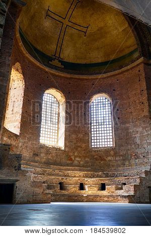 The Apse (altar) Of Hagia Irene Church, Istanbul