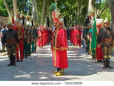 The Performance Of The Janyssar Orchestra In The First Courtyard Of Topkapi Palace.