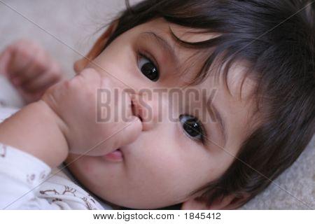 Baby Boy Quietly Sucking His Fist