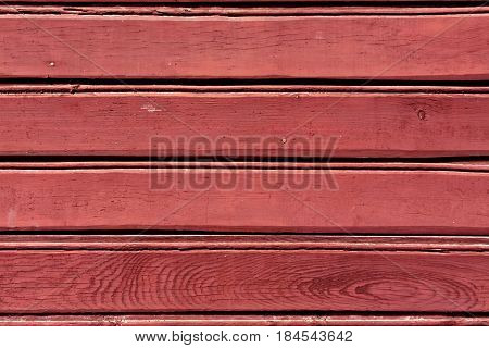 Red Color Wood Wall Pattern.