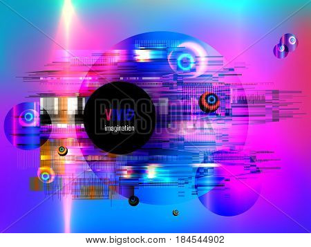 Glitch. Error signal TV, failure computer. Abstract blurred background with technology malfunction. Modern dynamic background. Stylization under the 70s, 80s, 90s. Vector illustration EPS10