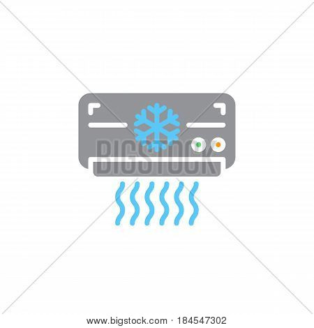 Air Conditioner icon vector filled flat sign solid colorful pictogram isolated on white. AC unit symbol logo illustration