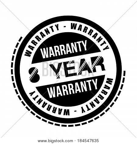 8 year warranty icon vintage rubber stamp guarantee