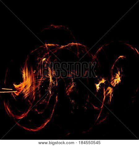 Carnival Light Orange Flames