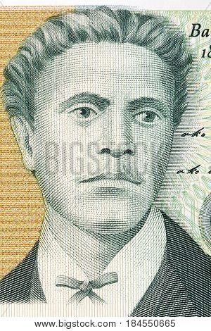 Vasil Levski portrait from Bulgarian money - Lev