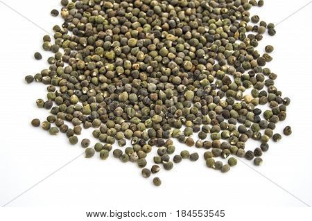 Ready to plant very clearly with white back ground okra seeds, okra seeds in the plate,